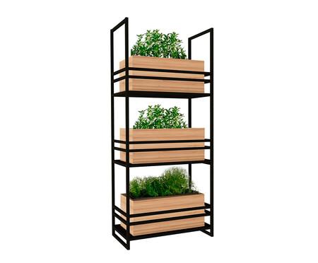 Floreira Box - Natural e Preto | WestwingNow