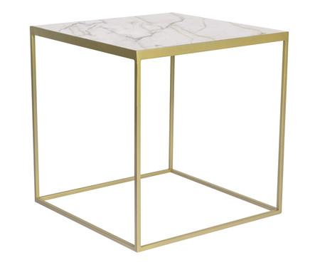Mesa Lateral Modern - Dourada e Branca | WestwingNow