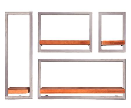 Jogo de Prateleiras de Madeira Tetris IV - Natural | WestwingNow