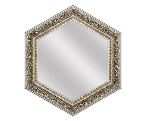 Espelho de Parede Sextavado de Vidro Nate - Prateado, Espelhado | WestwingNow