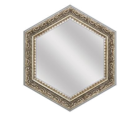 Espelho de Parede Sextavado de Vidro Nate - Prateado | WestwingNow