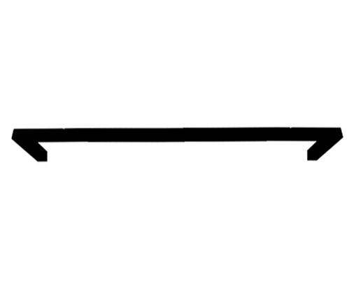 Porta-Toalha em Ferro Linee - Preto, Preto | WestwingNow