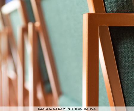 Banqueta de Ferro com Assento em Linho Aeris - Verde | WestwingNow