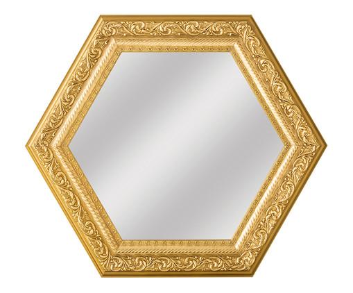 Espelho de Parede Sextavado de Vidro - Dourado, Dourado, Espelhado   WestwingNow
