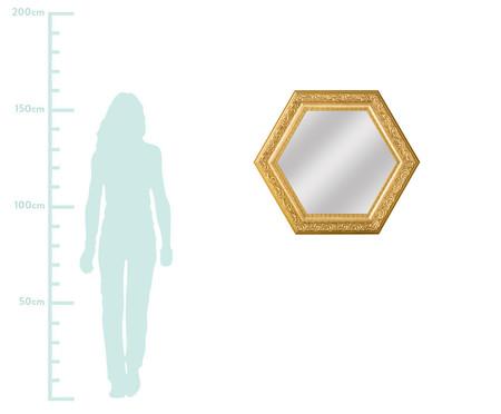 Espelho de Parede Sextavado de Vidro - Dourado | WestwingNow