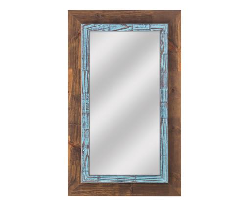 Espelho de Parede Thora - Marrom e Azul, Marrom, Azul, Espelhado | WestwingNow