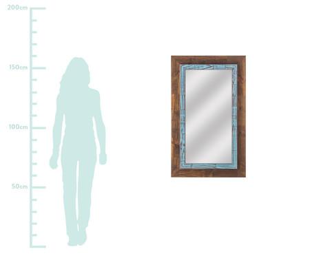 Espelho de Parede Thora - Marrom e Azul | WestwingNow