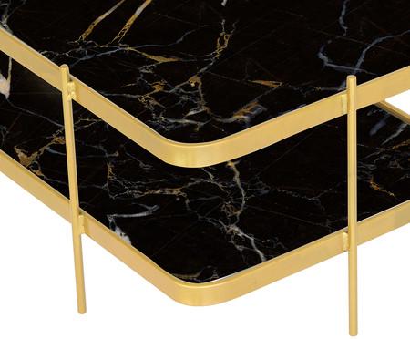 Mesa de Centro Retangular Andaime Nero - Dourada | WestwingNow