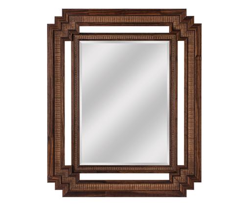Espelho de Parede Lisa - Marrom, Marrom, Natural, Espelhado | WestwingNow