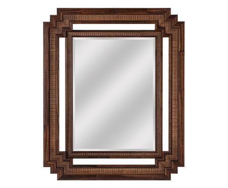 Espelho de Parede Lisa - Marrom | WestwingNow