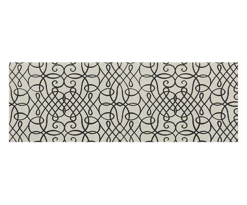 Tapete Passadeira Emborrachada Abstract - Preto e Bege, Preto e Bege | WestwingNow