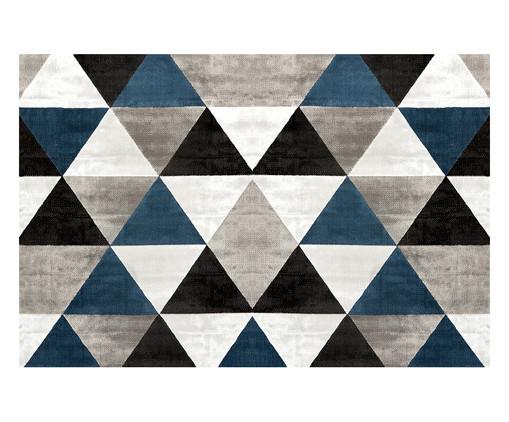 Tapetinho Geométrico PVC Caw - Cinza e Azul, Azul e Cinza | WestwingNow