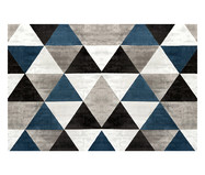 Tapetinho Geométrico PVC Caw - Cinza e Azul | WestwingNow