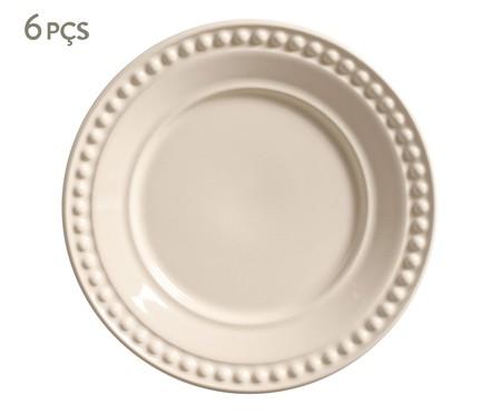 Jogo de Pratos para Sobremesa em Cerâmica Atenas - Cru | WestwingNow