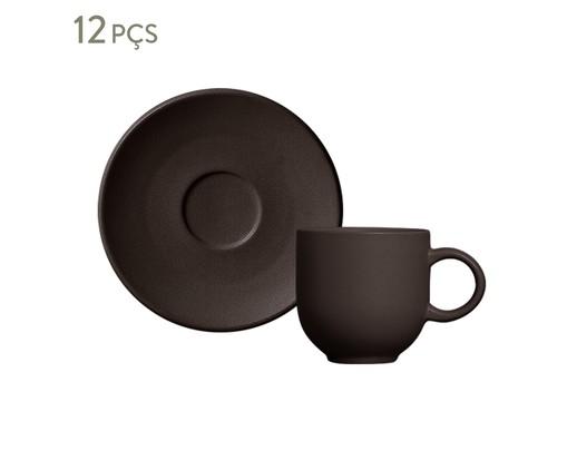 Jogo de Xícaras para Café Coup Stoneware - Oak, Cinza   WestwingNow
