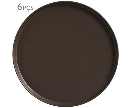 Jogo de Pratos Rasos em Cerâmica Neo Oak - 06 Pessoas | WestwingNow