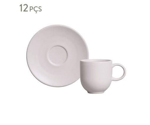 Jogo de Xícaras para Café em Cerâmica Stoneware Haya - Cru, bege | WestwingNow