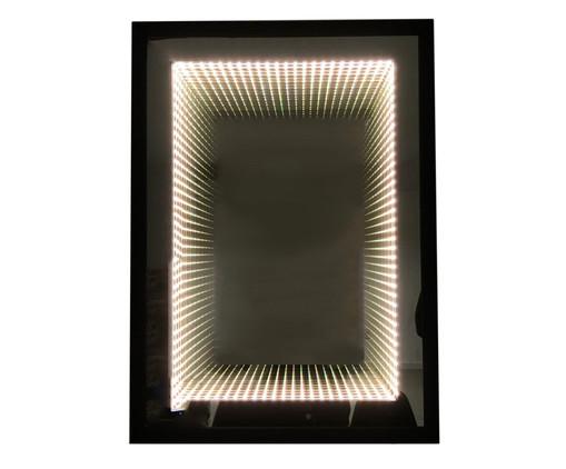 Espelho com Led Infinito - Bivolt, Preto, Espelhado | WestwingNow