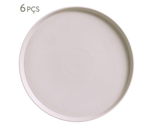 Jogo de Pratos para Sobremesa em Cerâmica Neo Haya - 06 Pessoas, bege   WestwingNow
