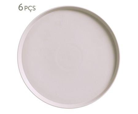 Jogo de Pratos para Sobremesa em Cerâmica Neo Haya - 06 Pessoas | WestwingNow