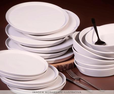 Jogo de Pratos para Sobremesa em Cerâmica Neo Haya - Cru | WestwingNow