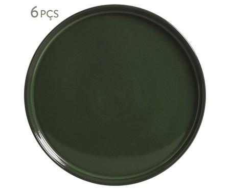 Prato Sobremesa em Cerâmica Neo Naturale - Verde | WestwingNow