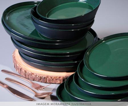 Prato Sobremesa em Cerâmica Neo 06 pessoas - Cinza | WestwingNow