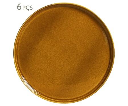 Jogo de Pratos para Sobremesa em Cerâmica Neo 6 Pessoas -  Âmbar | WestwingNow