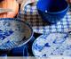 Jogo de Pratos para Sobremesa em Cerâmica Coup Fish - Azul, Branco,Azul   WestwingNow