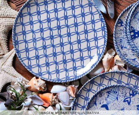 Jogo de Pratos Rasos Coup Fish - Azul | WestwingNow