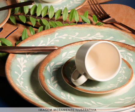 Jogo de Pratos para Sobremesa em Cerâmica Coup Mediterrâneo - Verde | WestwingNow
