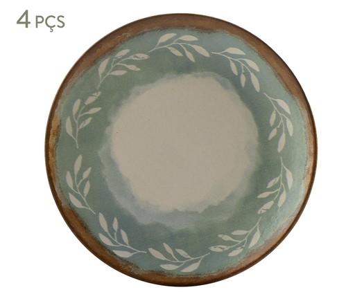 Jogo de Pratos para Sobremesa em Cerâmica Coup Mediterrâneo - Verde, multicolor | WestwingNow