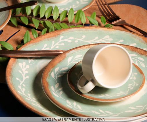 Jogo de Pratos para Sobremesa em Cerâmica Coup Mediterrâneo 06 Pessoas - Estampado, multicolor | WestwingNow