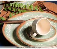 Jogo de Pratos para Sobremesa em Cerâmica Coup Mediterrâneo 06 Pessoas - Estampado | WestwingNow