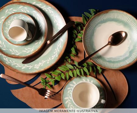 Jogo de Pratos Fundos em Cerâmica Coup Mediterrâneo - Verde | WestwingNow
