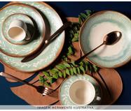 Jogo de Pratos Fundos em Cerâmica Coup Mediterrâneo 06 Pessoas - Estampado | WestwingNow