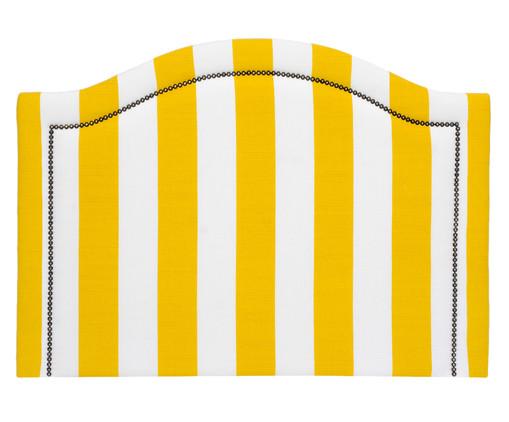 Cabeceira Painel em Linho Joliet - Listrada Amarela, Branco, Amarelo, Colorido | WestwingNow
