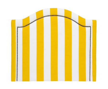 Cabeceira Painel em Linho Joliet - Listrada Amarela | WestwingNow