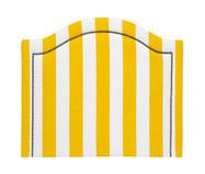 Cabeceira em Linho Joliet - Listrada Amarela | WestwingNow