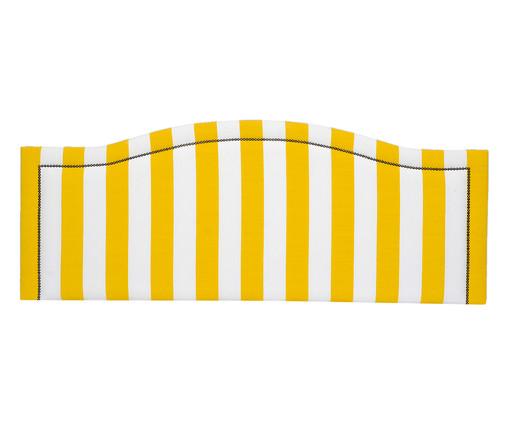 Cabeceira Painel em Linho Joliet - Listrada Amarela, Branco, Amarelo, Colorido   WestwingNow