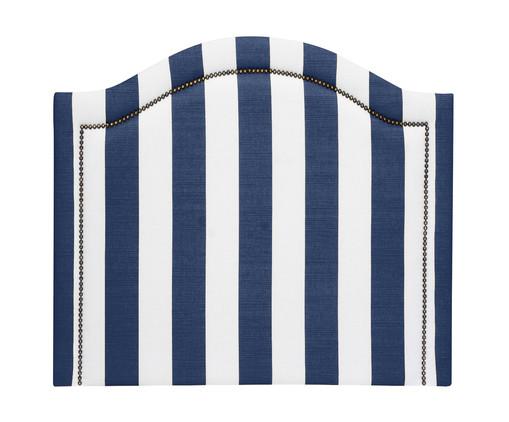 Cabeceira Painel em Linho Joliet - Listrada Azul, Branco, Azul, Colorido | WestwingNow