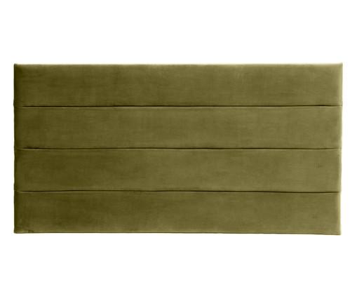 Cabeceira Painel em Veludo Frank - Verde, Verde | WestwingNow