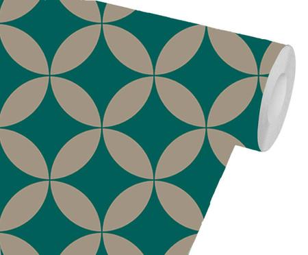 Papel de Parede Geométrico Leann - Verde | WestwingNow