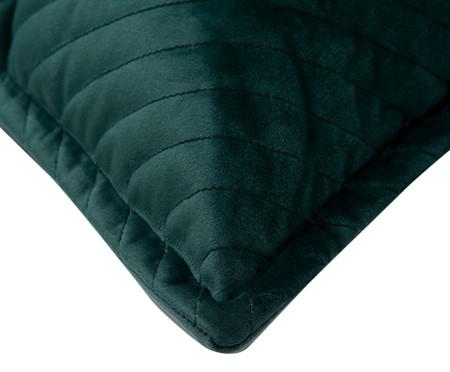 Almofada em Veludo Zig Zag - Verde Escuro | WestwingNow