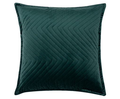 Almofada em Veludo Zig Zag - Verde Escuro, green | WestwingNow