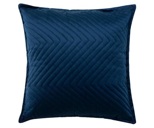 Almofada em Veludo Zig Zag - Marinho, blue | WestwingNow