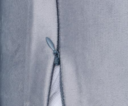 Almofada em Veludo Ripado - Cinza | WestwingNow