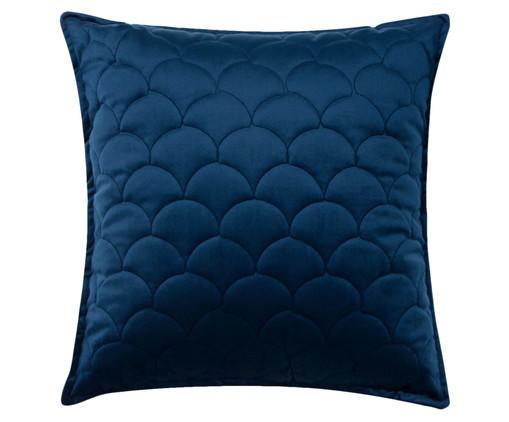 Almofada em Veludo Escamas - Marinho, blue   WestwingNow