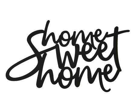 Placa de Madeira Decorativa Home Sweet Home - Preta | WestwingNow