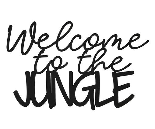 Placa de Madeira Decorativa Welcome To The Jungle - Preta, preto | WestwingNow